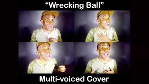 Marcellus Long performing a multi-voice cover of 'Wrecking Ball' by Miley Cyrus.